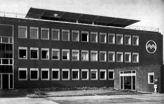 Egon Eiermann, Märkische Metallbau GmbH, Oranienburg, 1939-42. Foto: Eberhard Troeger, aus: Sonja Hildebrandt, Egon Eiermann. Die Berliner Zeit. Vieweg, Braunschweig/Wiesbaden, 1999