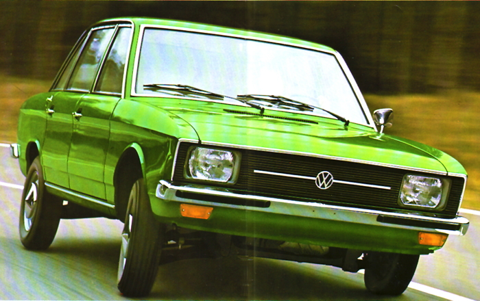 VW K70. Foto: VW-Prospekt von 1971 via motorkultur.com